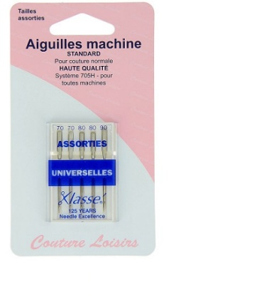 Mercerie Aiguilles machine standard assorties