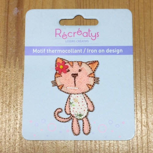 Motif thermocollant Chat 2